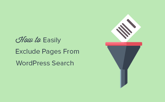 Exclude pages frm WordPress search results