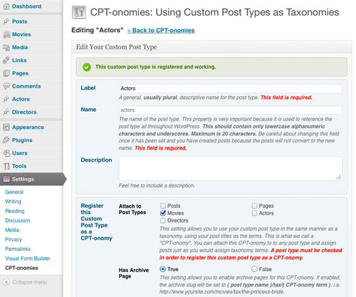CPT-onomies edit a custom post type