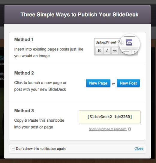 Publish SlideDeck