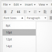 to Change the Font Size in WordPress