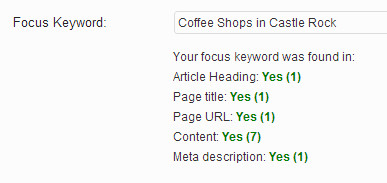 Focus Keyword Count in WordPress SEO plugin