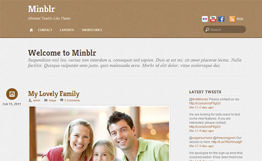 Minblr - A Microblogging theme by Themify