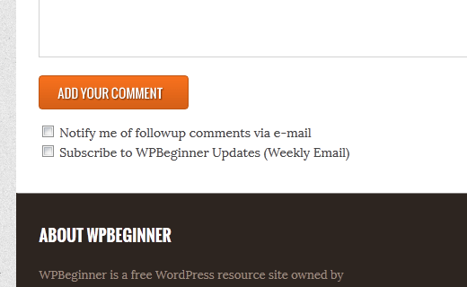Allow users to subscribe to comments in WordPress