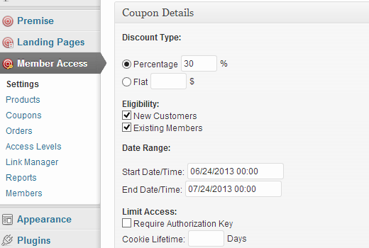 Creating coupons in Premise