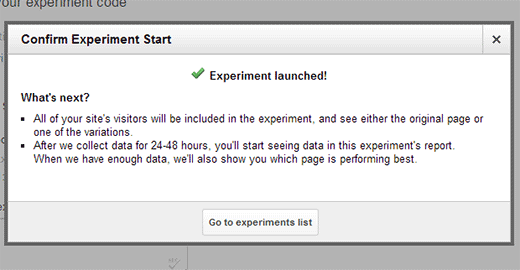 A/B Split Testing Content Experiment Launched in Google Analytics