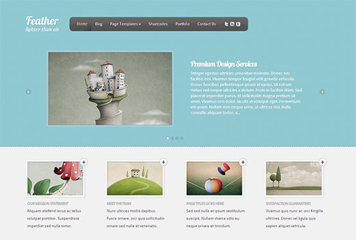 WordPress Portfolio Theme for The Artistic in You by Elegant