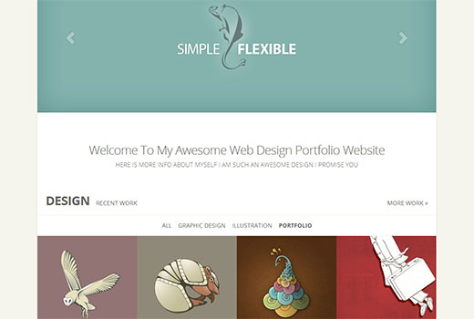 Flexible portfolio theme by elegant