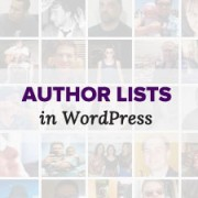 Author Lists in WordPress