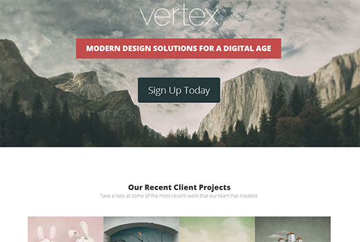 Vertex theme for WordPress travel and hotel websites