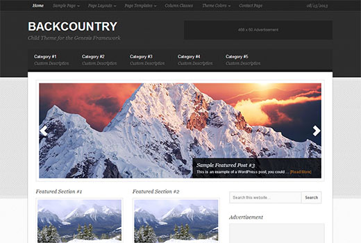 Backcountry Theme by StudioPress