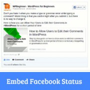 How to Embed Facebook Status in WordPress