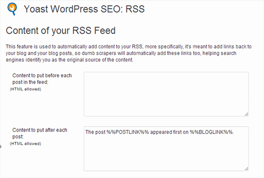 Add custom content to your RSS Feeds in WordPress
