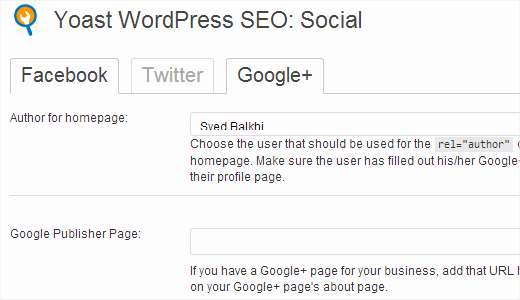 Adding your Google+ profile to WordPress SEO