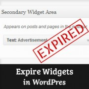 Setup expire date for a widget in WordPress