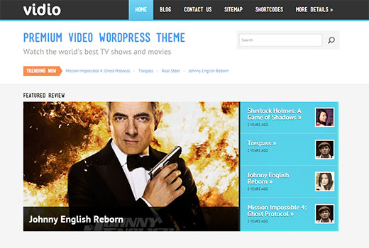 Vidio - WordPress Video Theme by Colorlabs