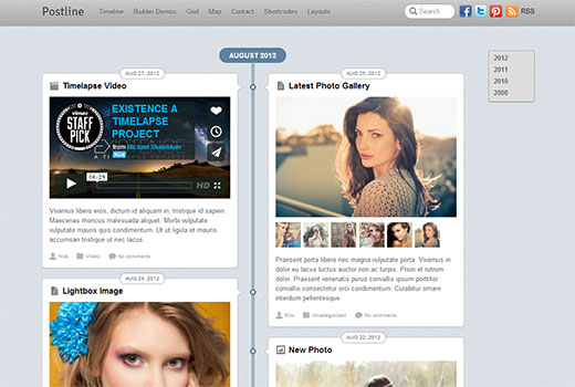 Postline - Facebook Timeline like theme for WordPress