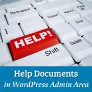 How to Add Help Documents in WordPress Admin Area