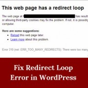Redirect Loop Error