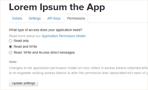 Change your App Permission to Read and Write