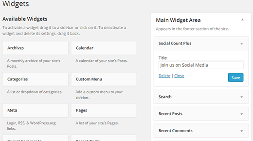 Social Count Plus Widget
