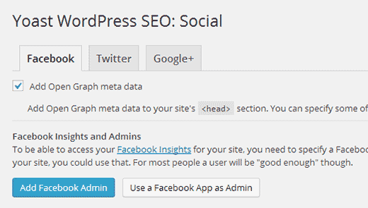 Adding Facebook open graph meta data using WordPress SEO plugin