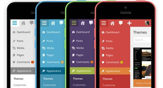 WordPress 3.8 Admin Color Schemes on Mobile Devices