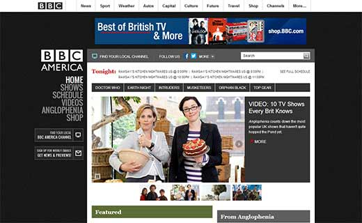 BBC America 40+ Notable WordPress Websites - bbcamerica