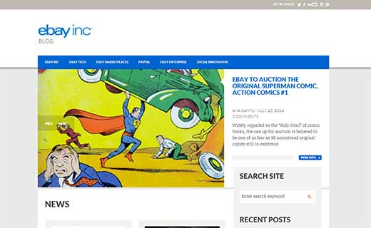 ebay Inc 40+ Notable WordPress Websites - ebayinc