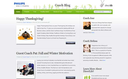 Philips DirectLife Coach Blog