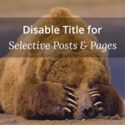 How to Disable Title for Selective Posts in WordPress