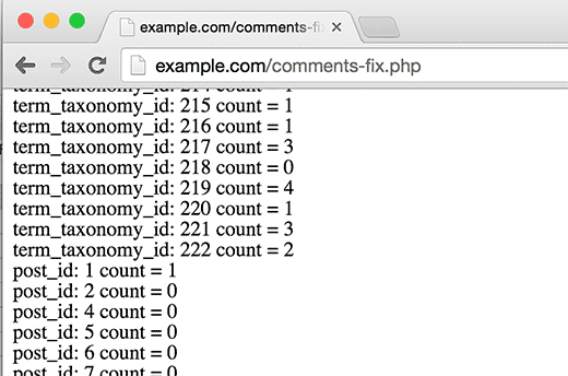 Fixing taxonomy terms and comment count numbers