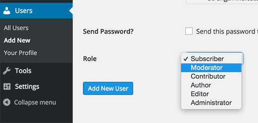 Adding a moderator user role in WordPress