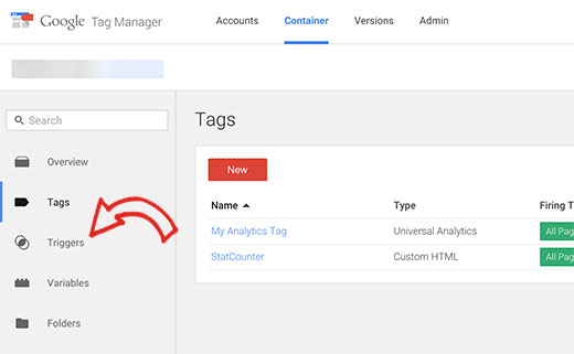 Triggers in Google Tag Manager