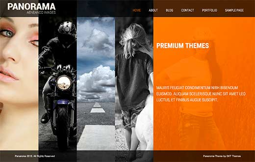 41 best free wordpress photography themes expert pick panorama is a stunningly beautiful wordpress photography theme it features large sliders that takeover the homepage and provide a very interactive and pronofoot35fo Images