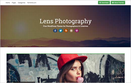 41 best free wordpress photography themes expert pick lens is a responsive wordpress theme with ideal for photographers designers and advertisers it comes with beautiful gallery layouts about page template pronofoot35fo Images