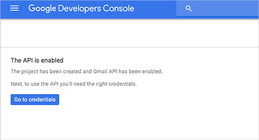 Gmail API Enabled