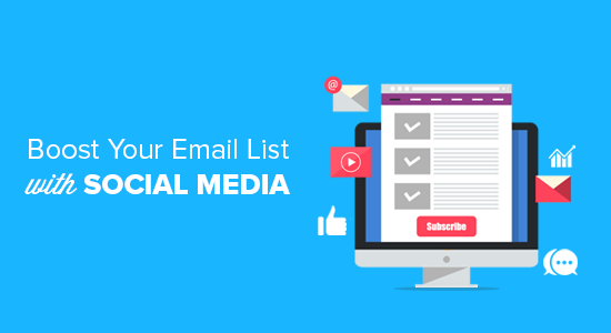 Using social media to increase email subscribers