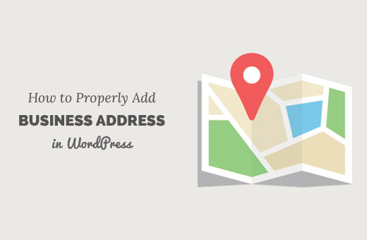 Adding a business address in WordPress