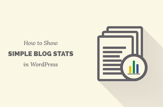 Add simple blog stats in WordPress