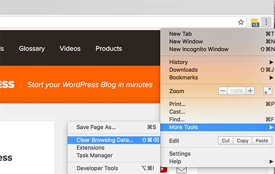 How to clear your cache in wordpress step by step clear cache in google chrome ccuart Image collections