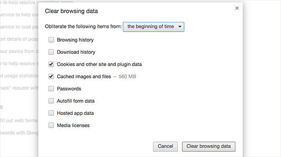 how to make google chrome clear browsing data on exit