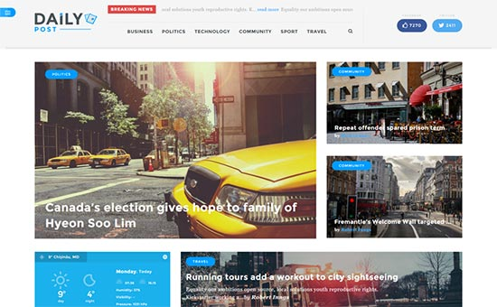 wordpress theme with multiple page templates - 27 best wordpress magazine themes of 2017