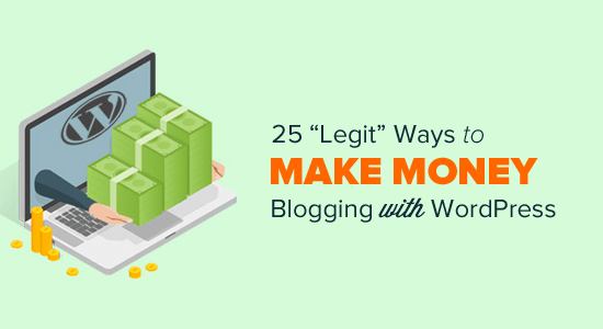 25 legit ways to make money online blogging with wordpress for Making a blueprint online