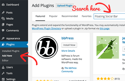 Searching for a WordPress plugin