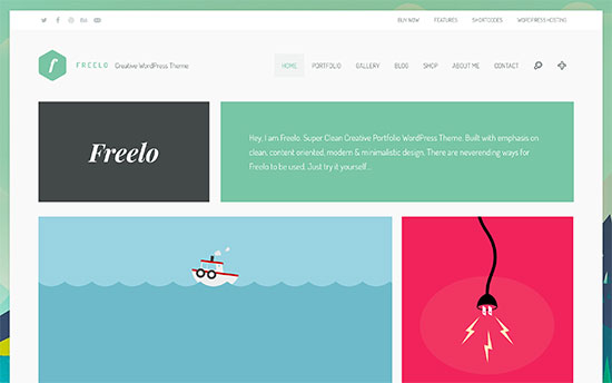 freelo is a beautifully designed wordpress theme for resumes portfolio and photography websitesit has a built in portfolio section with multiple styles