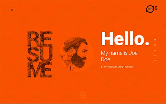 resume is a bold wordpress theme for online resume cv or a personal website this beautiful online resume template comes with a built in portfolio type