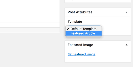 Select your custom single post template