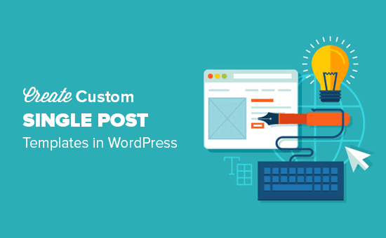 How to create custom single post templates in wordpress for Making a wordpress template