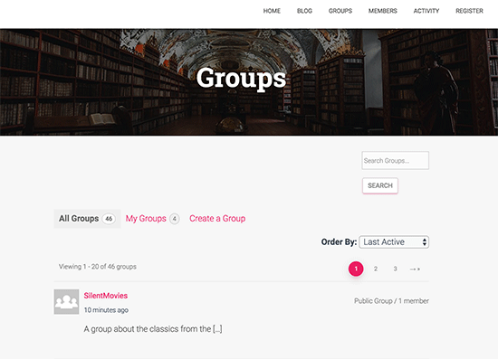 Groups directory