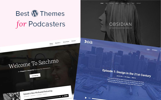 WordPress themes for podcasters
